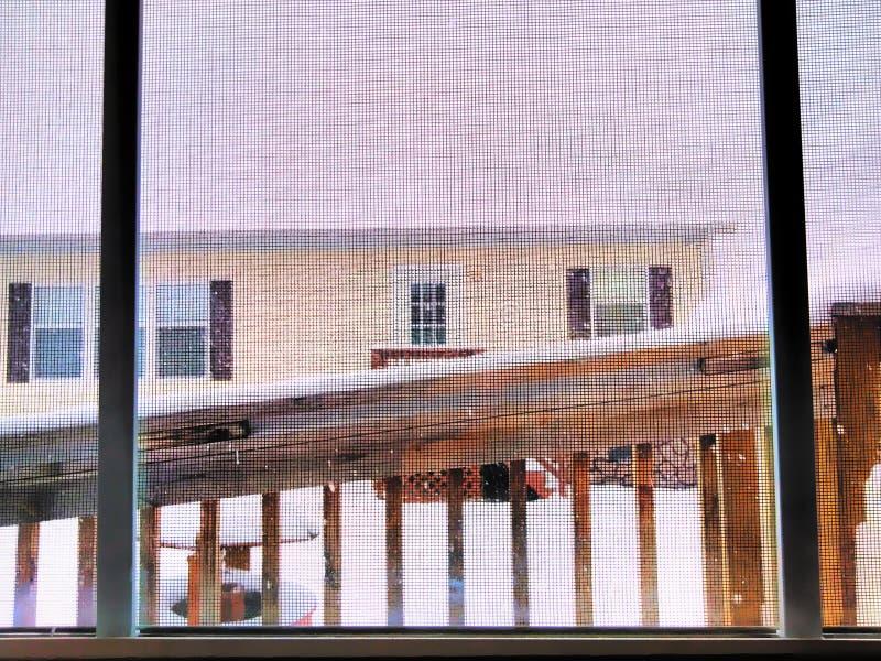 Winter& x27 ; matin de s photographie stock