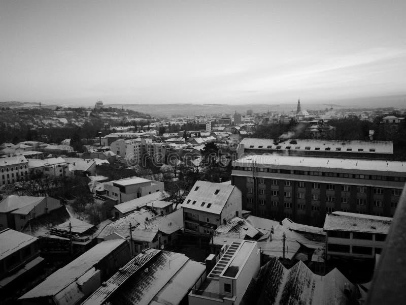 Winter in meiner Stadt stockfoto