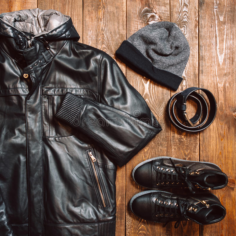 Winter men's warm cloth royalty free stock images