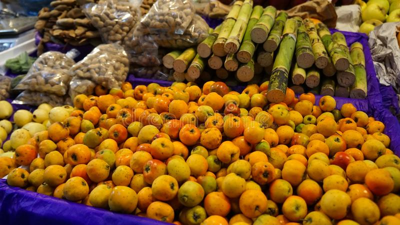 Winter mexican fruits stock photography