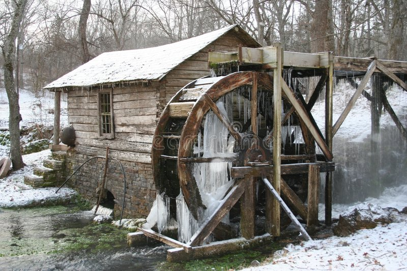 Winter Mill 2 stock photography