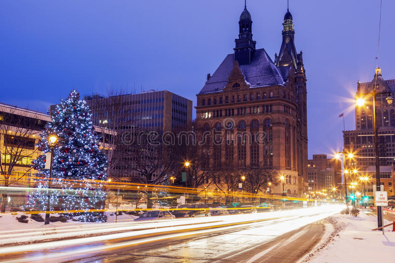 Winter in Milwaukee stockbilder