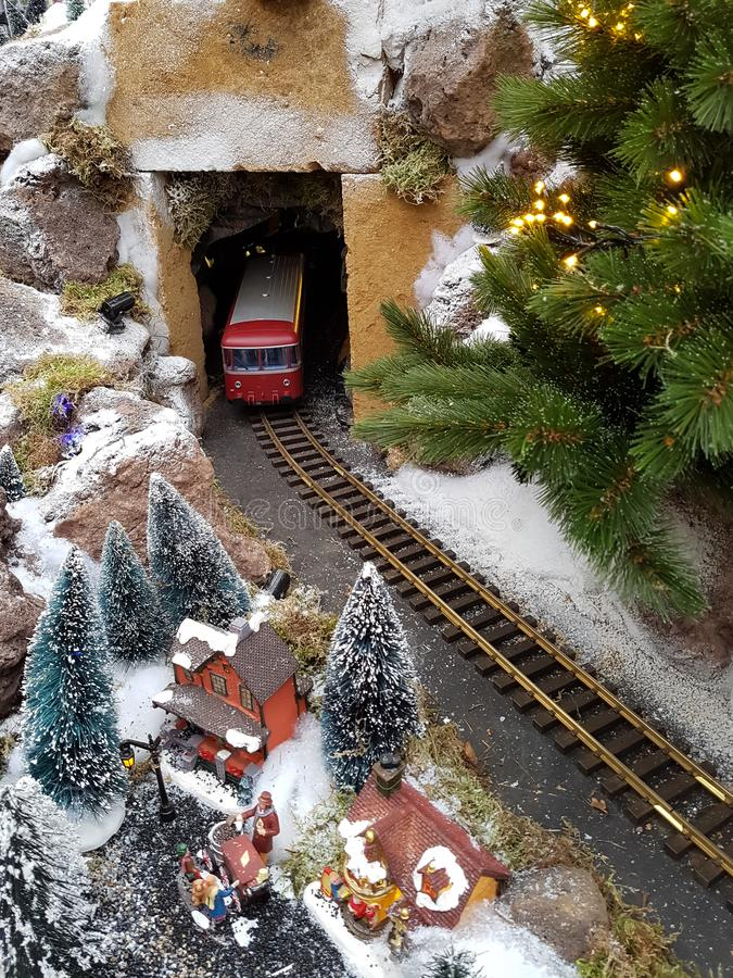 Winter miniature scene royalty free stock images