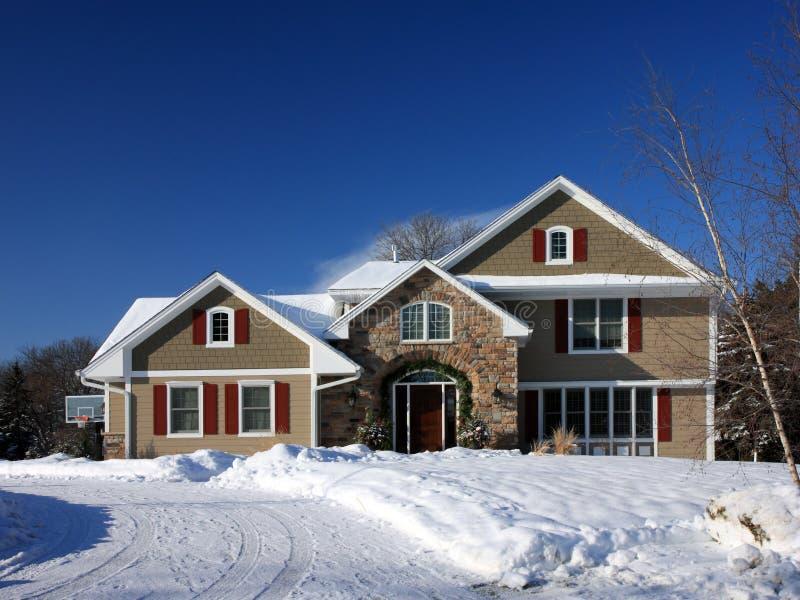 Winter in Minnesota lizenzfreie stockbilder