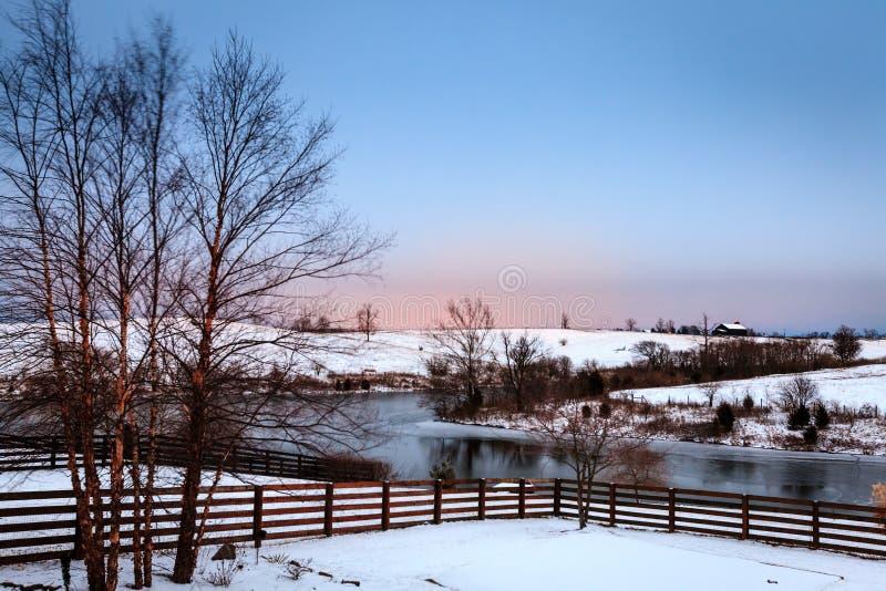 Winter in Mittel-Kentucky stockbilder