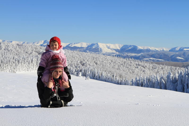 Download Winter : Mom With Baby In Snow Stock Image - Image: 20673507