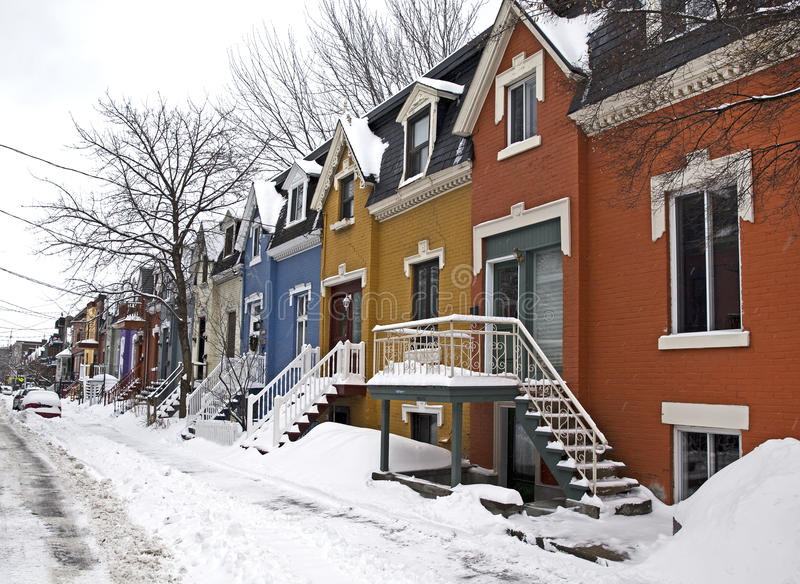 Winter in Montreal royalty free stock photography