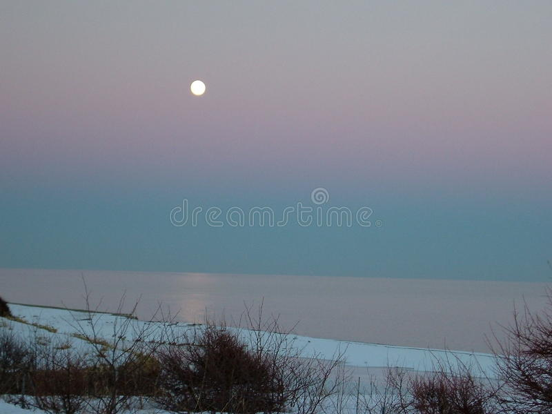 Winter moon royalty free stock image