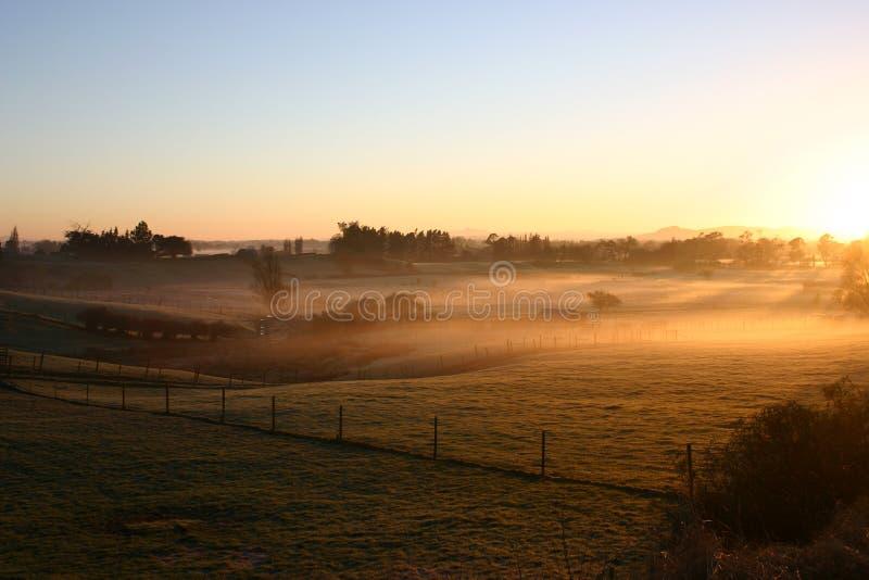 Winter-Morgen stockfoto