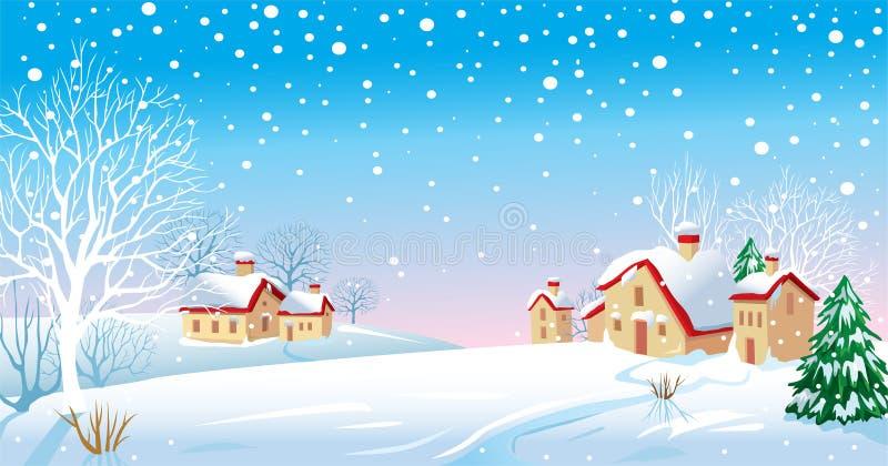 Winter-Morgen vektor abbildung