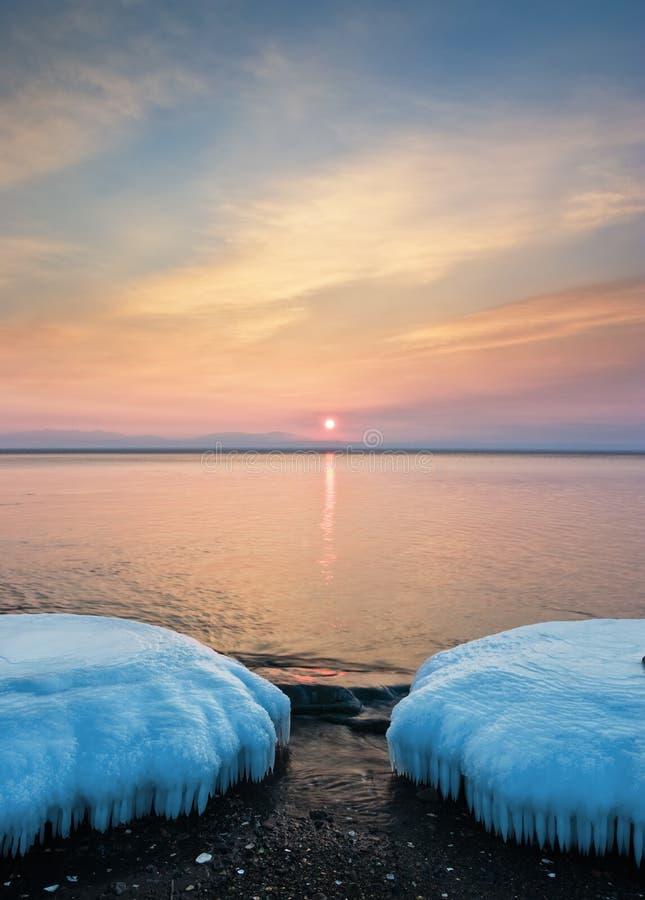 Winter morning 2 stock photo