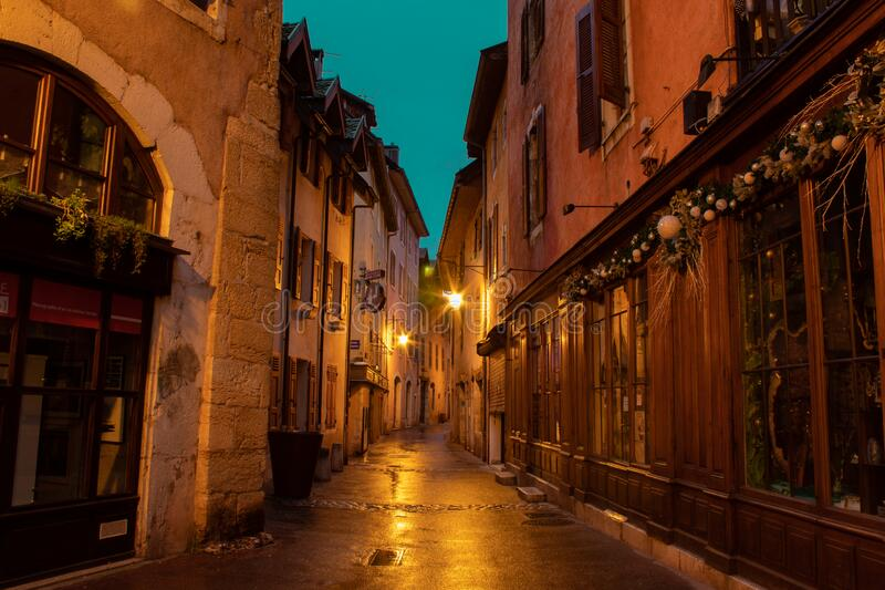 Annecy France street view stock photo
