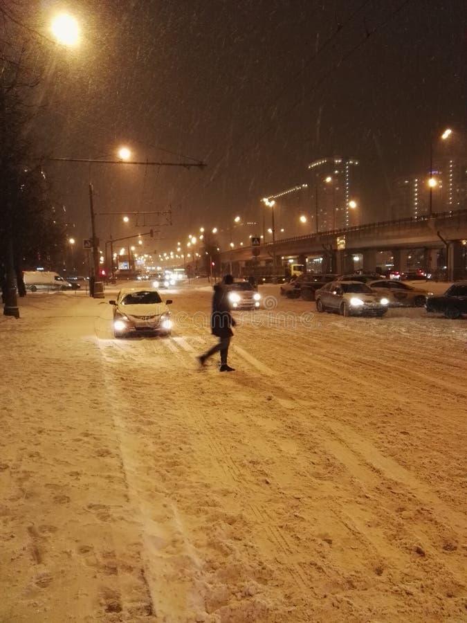 Winter in Moskau lizenzfreie stockfotos