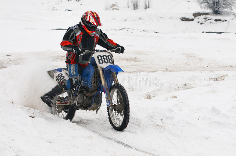 Download Winter motocross editorial stock image. Image of cycle - 23082759