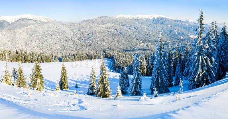 Winter mountain landscape royalty free stock photos