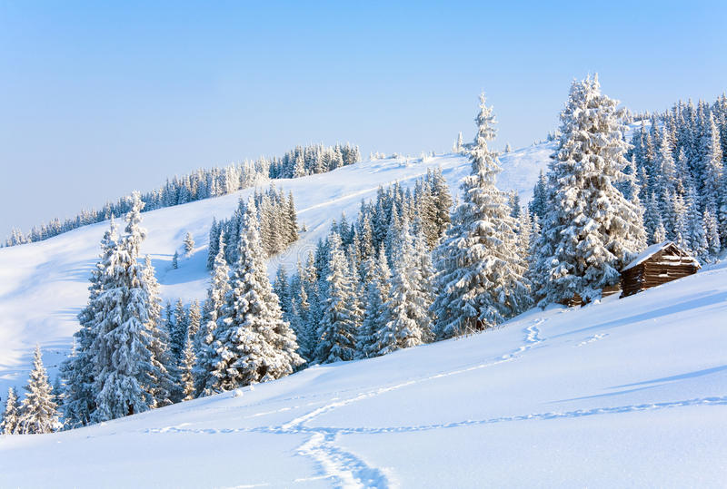 Download Winter mountain landscape stock image. Image of cold - 14890233