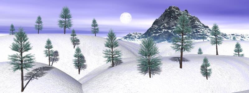 Winter mountain landscape royalty free illustration