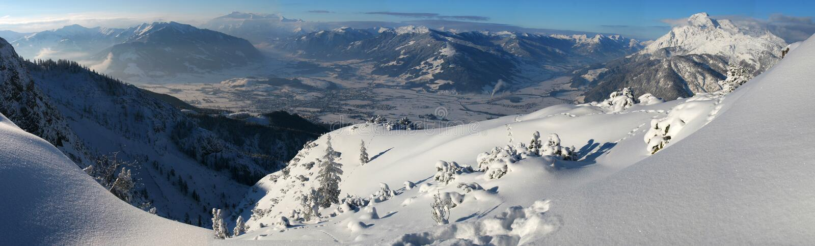 Download Winter mountain panorama stock image. Image of seasonal - 7169103