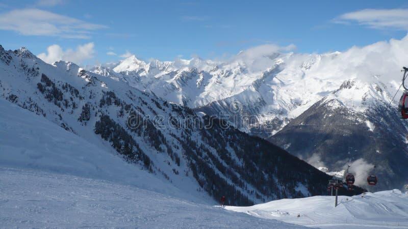 Winter mountain panorama royalty free stock photography