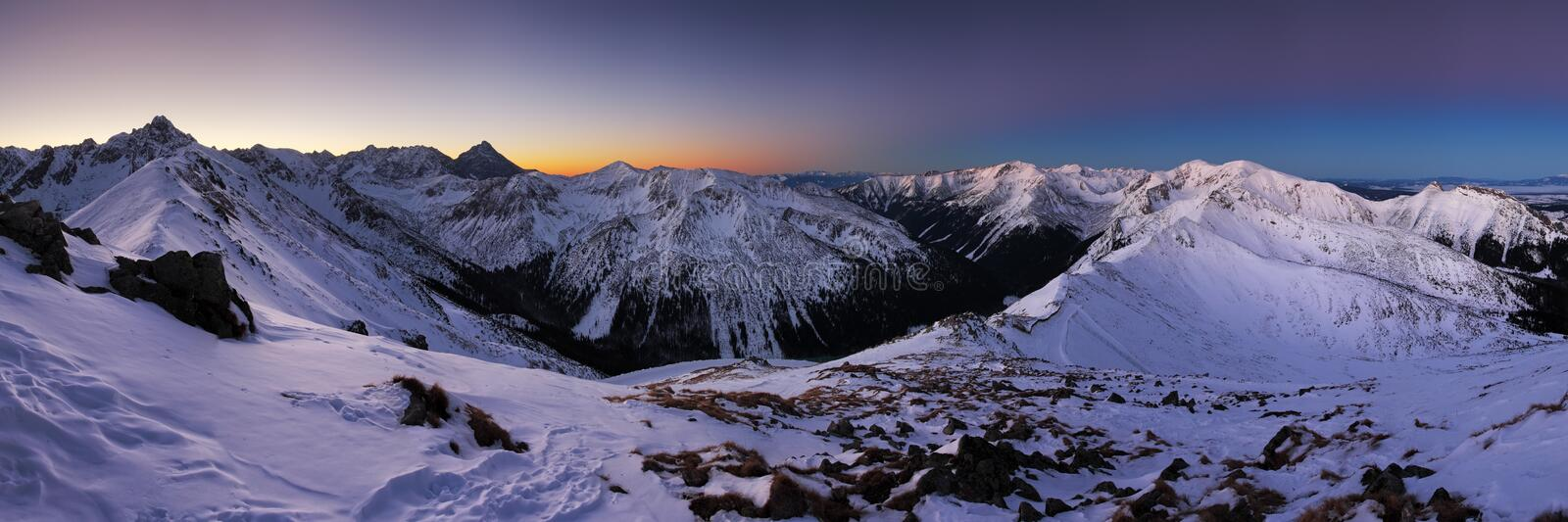 Winter mountain in Poland, Kasprowy. Winter mountain in Poland from Tatras - Kasprowy Wierch stock photos
