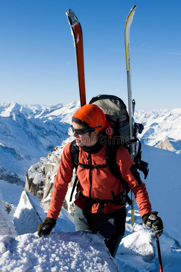 Download Winter mountaineering stock image. Image of backpack - 23303989