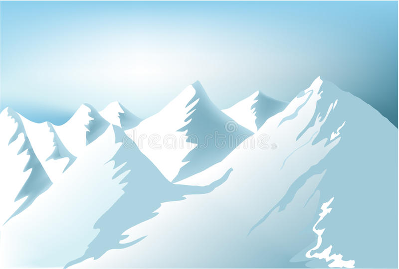 Download Winter mountains stock vector. Illustration of snowy - 12125615