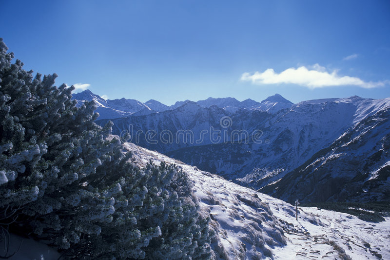 Winter mountains. High Tatra Mountains in winter, Western Carpathians, Poland stock images