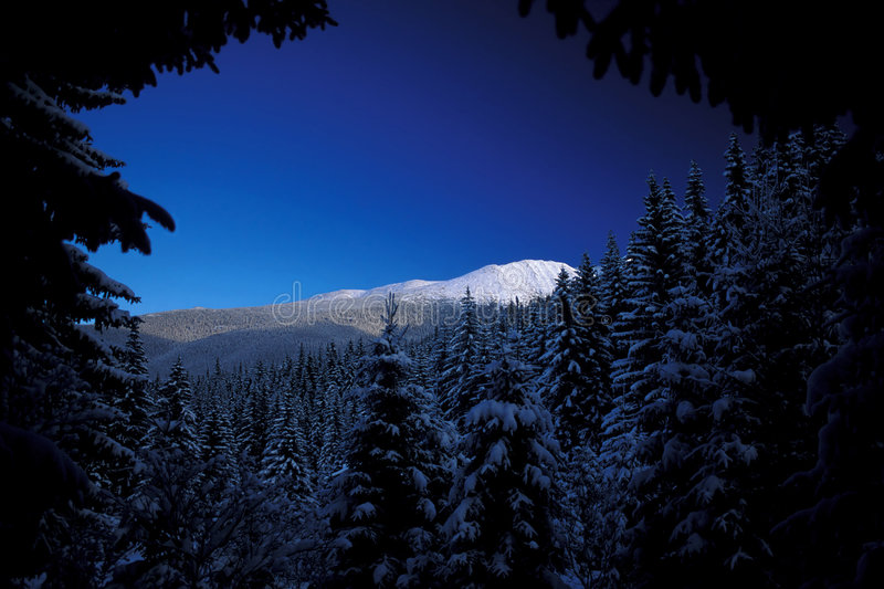 Winter mountains. Retezat Mountains in winter, Southern Carpathians, Romania stock photos