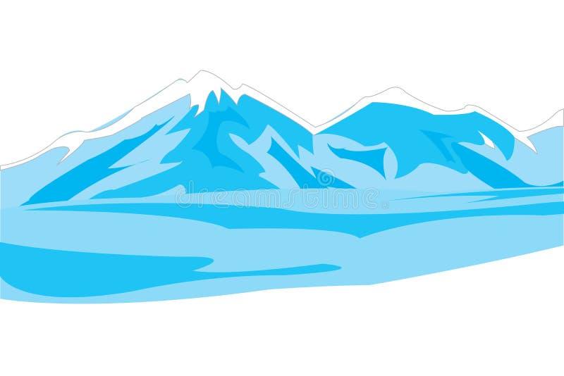 Winter mountains royalty free illustration
