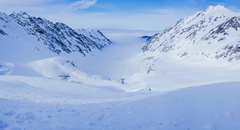 Winter mountains landscape stock images