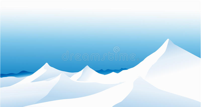Winter mountains royalty free illustration
