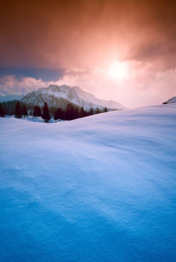 Winter mountains snow sun landscape background royalty free stock photos