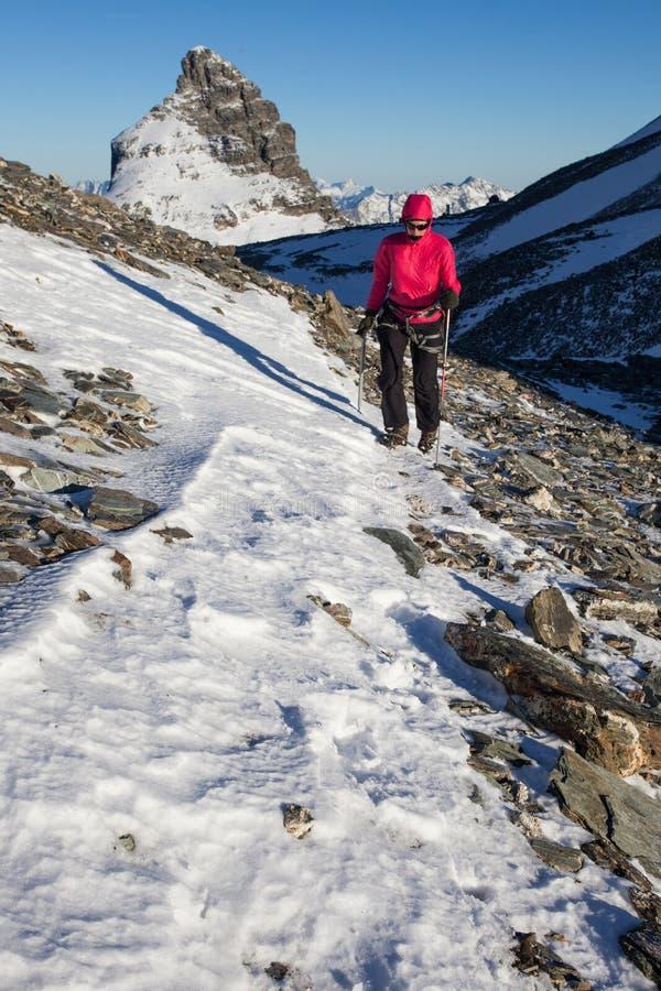 Download Winter mountaneering stock photo. Image of winter, woman - 32130904