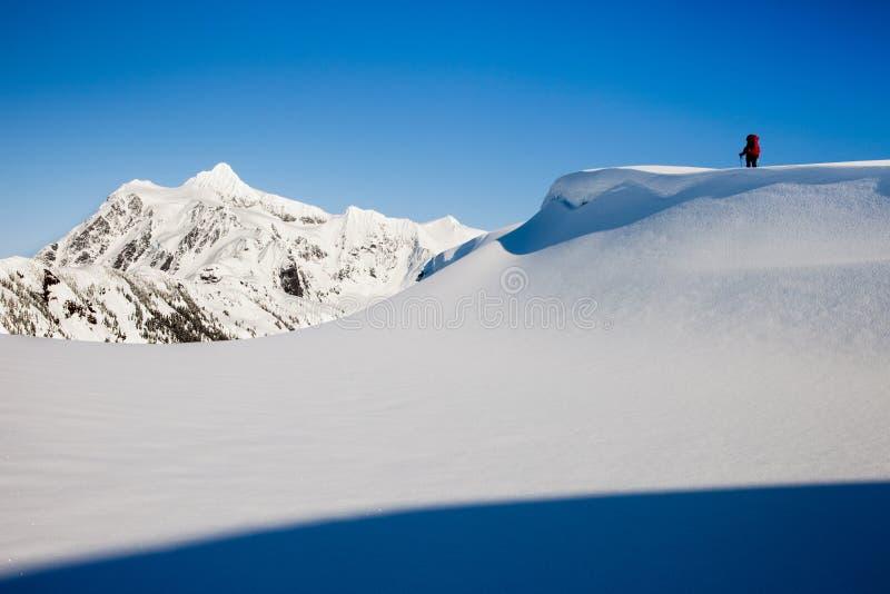 Winter on Mt Baker stock photos