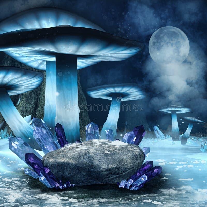 Free Winter Mushroom Forest Stock Photography - 42088202