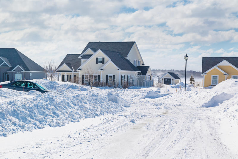 Winter-Nachbarschaft stockbild