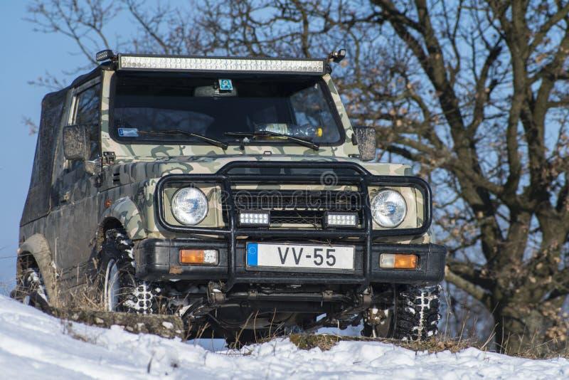 Winter nicht für den Straßenverkehr stockbild