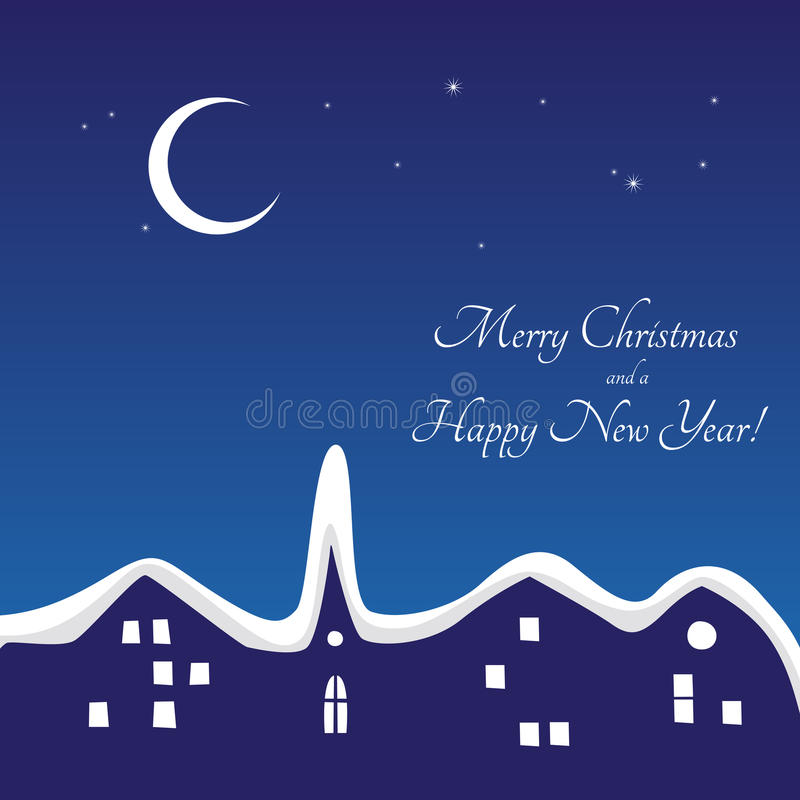 Download Winter night stock vector. Image of greeting, holidays - 28082272