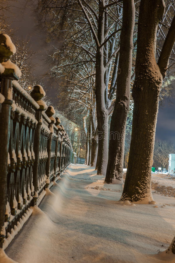 Download Winter In The Night City Stock Photo - Image: 83712002