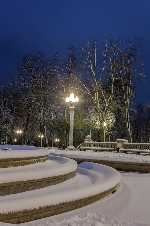 Download Winter In The Night City Stock Photo - Image: 83712736
