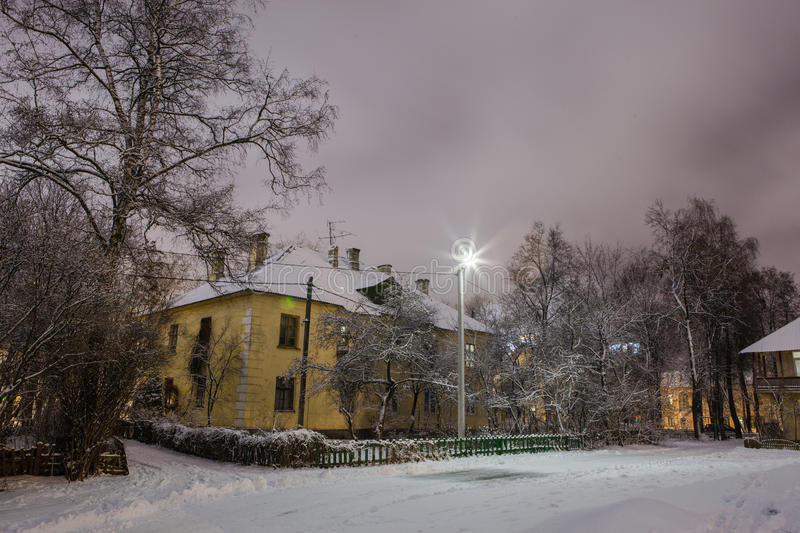 Download Winter In The Night City Stock Photo - Image: 83713614