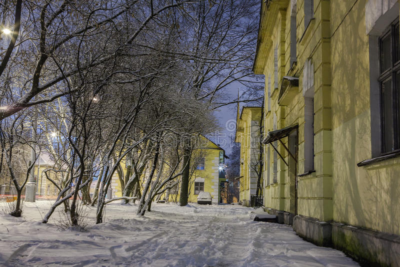 Download Winter In The Night City Stock Photo - Image: 83713686