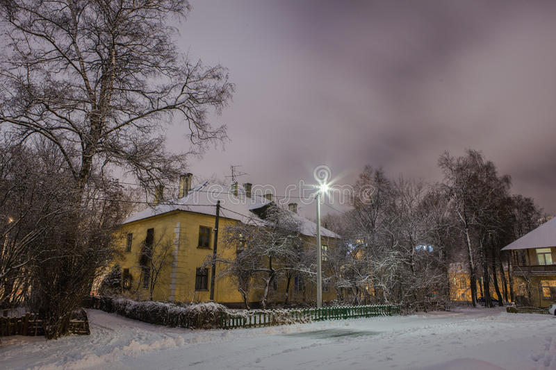 Download Winter in the night city stock photo. Image of nature - 83714472