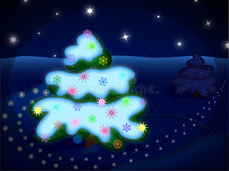 Download Winter night picture stock illustration. Illustration of cold - 22257032