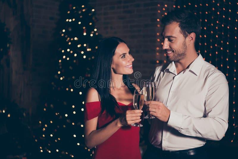 Winter noel christmastime Konzept Seitenansichtfoto des Profils von Co lizenzfreie stockfotos