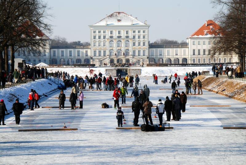 Winter in Nymphenburg stock image