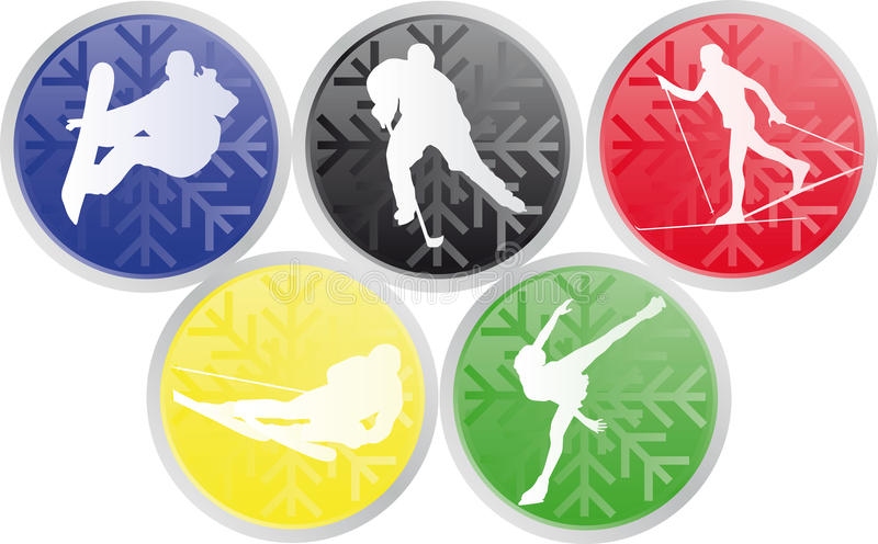Download Winter Olympic Sports Icons Stock Vector - Image: 11624714