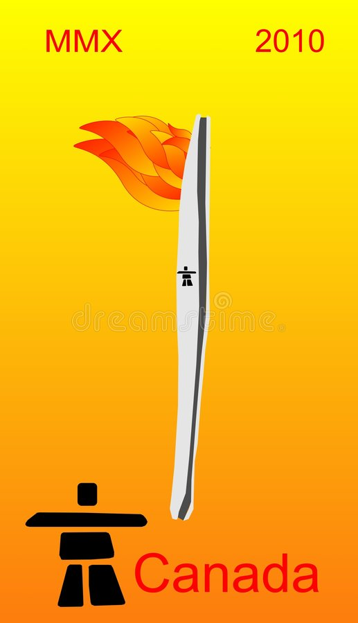 Download Winter Olympic Torch 2010 Stock Photography - Image: 8166712