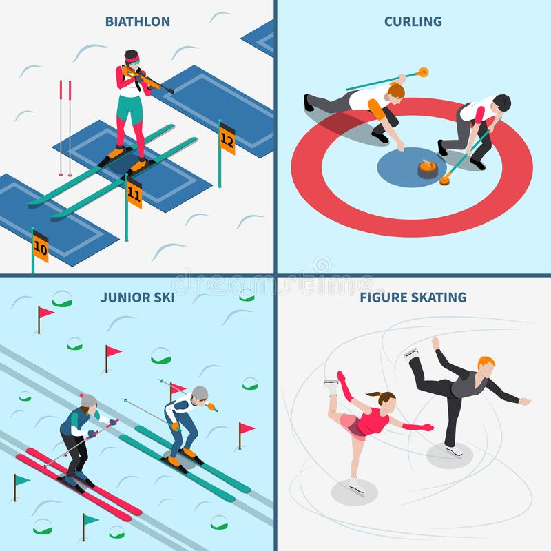 Winter Olympics-Konzept des Entwurfes stock abbildung