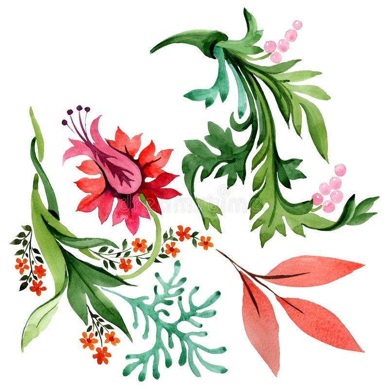 Free Winter Ornament Elements. Watercolor Background Illustration Set. Isolated Ornament Illustration Element. Stock Photography - 159183502